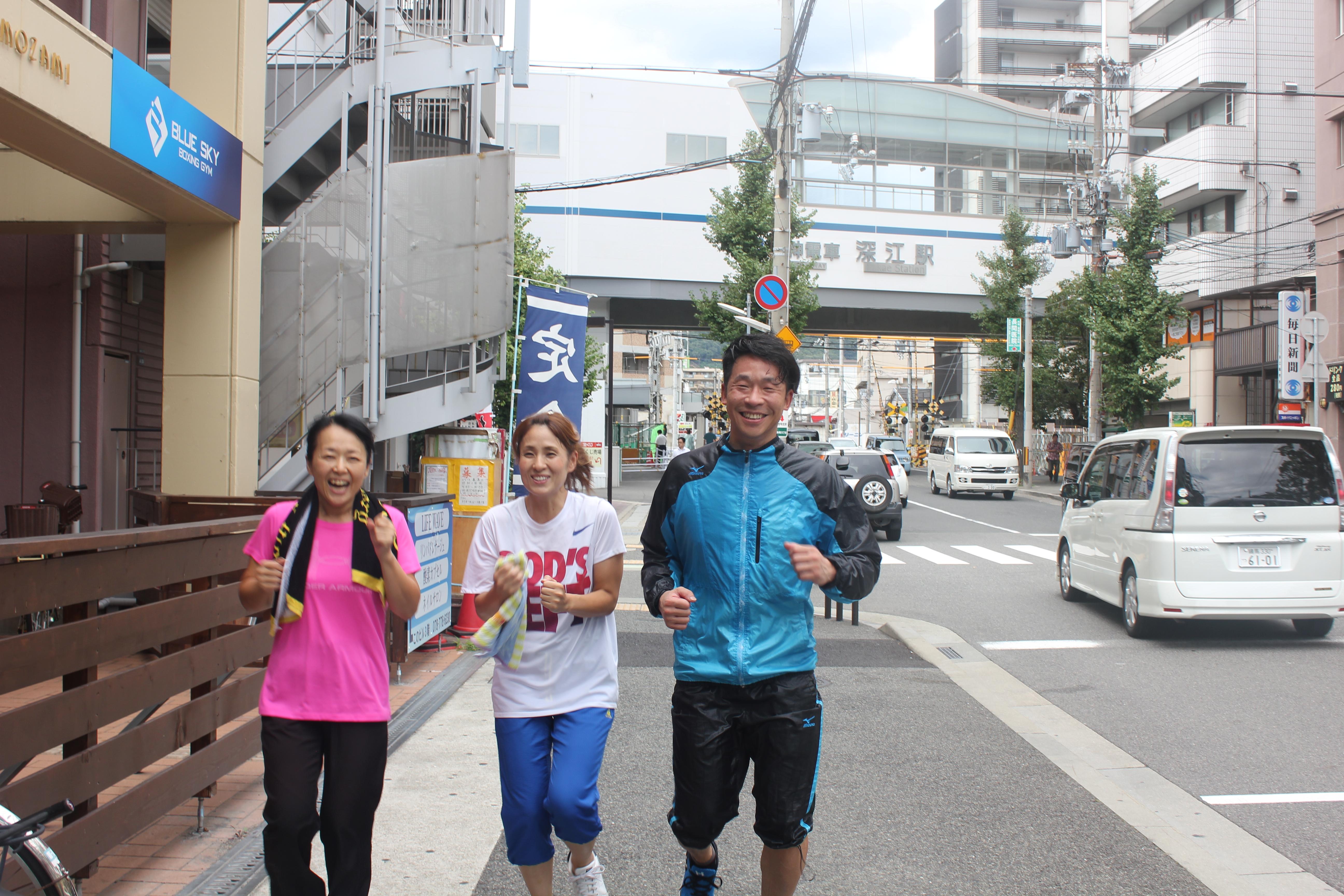 ロードワーク!!神戸、東灘、深...